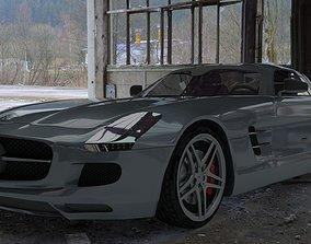 Mercedes sls amg 2011 3D asset