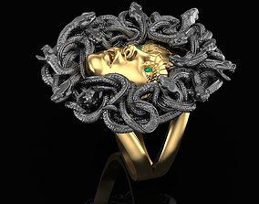 3D printable model Gorgon Head Ring