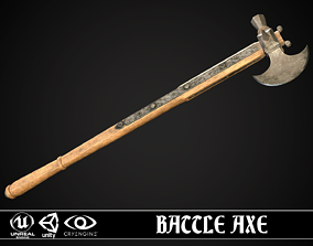 Battle Axe 01 3D asset VR / AR ready