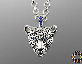 3D printable model Light leopard pendant with enamel 0076