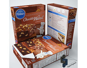 Pillsbury Chocolate Walnut Brownie Mix 3D model