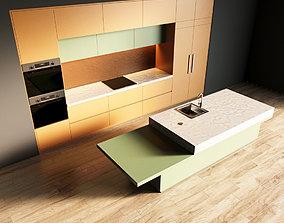 3D model 25-Kitchen1 matte 3