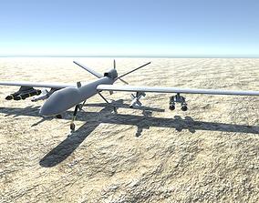 3D asset Low Poly MQ-9 Reaper UAV Drone