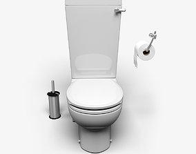 Toilet 3D model sanitory