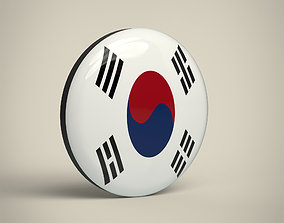 South-Korea Badge 3D model