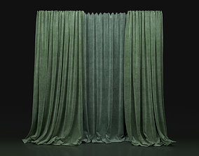 Curtain Green-21 3D model
