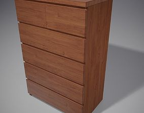 Chest of 6 Drawers 3D model