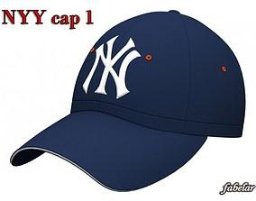 3D New York Yankees cap 1