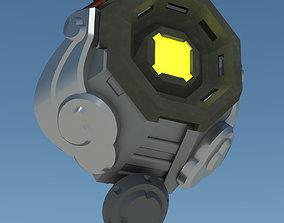 Overwatch Tracer Chronal accelerator rear 3D print model 1