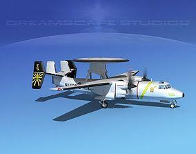 Grumman E-2C Hawkeye V09 3D