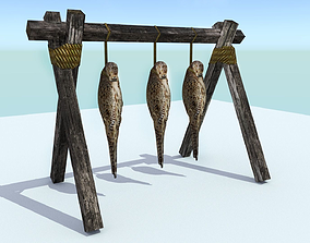 3D asset Hanging Birds
