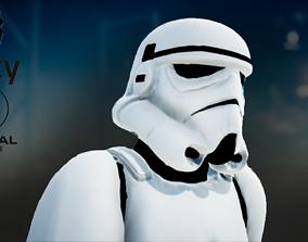 3D asset Stormtrooper rigged