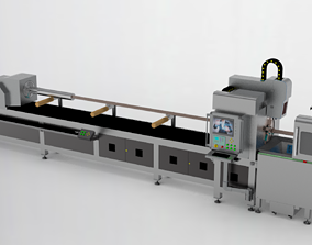High power laser automatic pipe cutting machine 3D