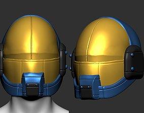 High quality scifi helmet high poly sculpt 3d printable 2