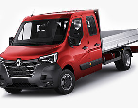 3D Renault Master pickup 2019 double cab