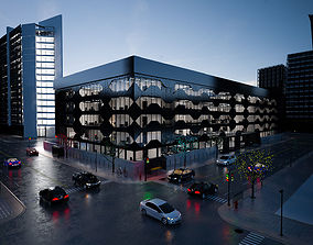 hotel 3D model Modern Commercial office