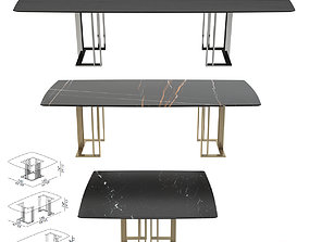 Meridiani Tables Charlie Rectangle 3D model game-ready