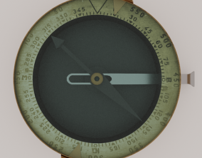 Old Compass 3D model rigged magnet