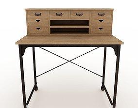 3D model low-poly Maisons du Monde Archibald table