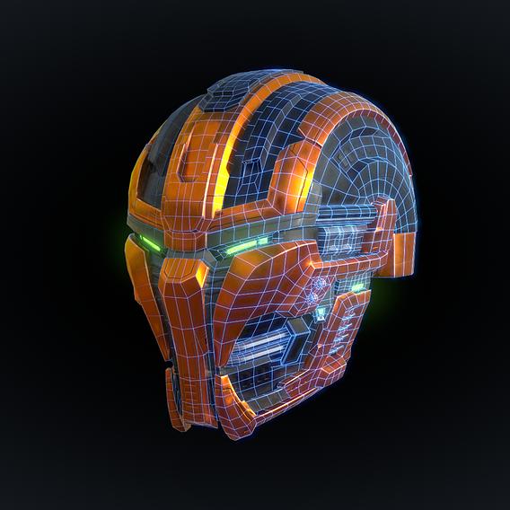 Cyborg Helmet (+Free download)