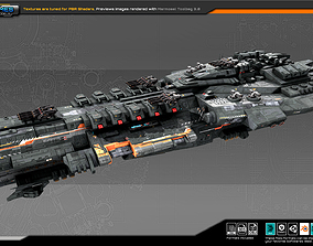 Federation Dreadnought K5 3D model game-ready