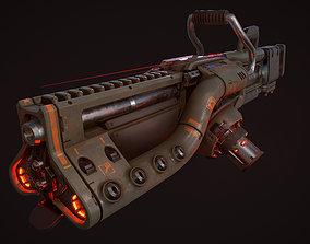 3D model Baikal - Heavy plasma sci-fi gun