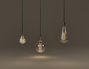 Vintage bulbs 3D