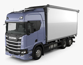 3D Scania R500 Highline Box Truck 2016