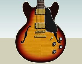 Guitar - Gibson ES Hollow Body - Triburst Finish 3D model