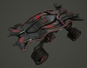 Low poly sci fi rover vehicle 3D asset