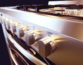3D gas stove kitchenware and appliance electronics