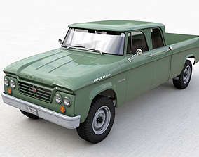DODGE POWER WAGON CREW CAB TRUCK 1964 3D model