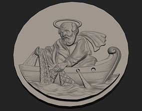 3D printable model st Peter fisherman