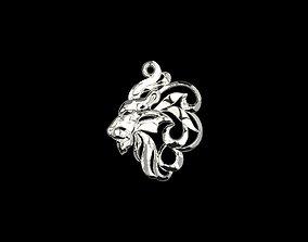 Lion head 3D print model symbol