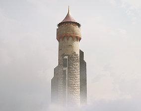 3D asset Medieval DRAGON Tower 03