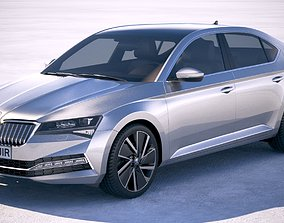 Skoda Superb iV 2020 3D model