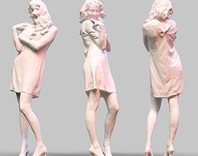 poly 3D printable model Girl Posing