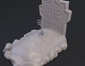 Grave hand 3D print model