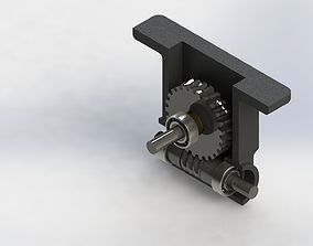 Worm and Wheel Gear 3D