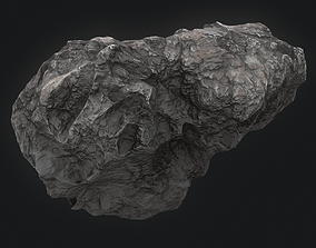 3D model Meteor Asteroid Rock 4K