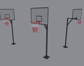 3D model low-poly Basketball Backboard