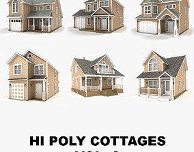 3D Hi-poly cottages collection vol 8