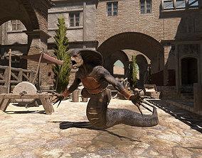 Serpent Warrior Pack PBR 3D model