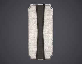 Shield Pavise 3D asset game-ready