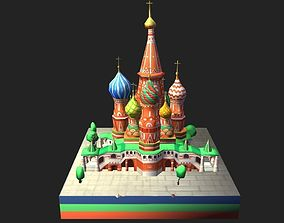 World Architecture 4 Moscow Kremlin Saint Basil 3D model