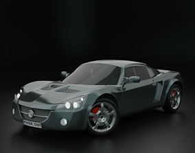 realtime Opel speedster hight resolution low-poly model