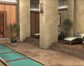 3D model Spa Health Club Low Poly