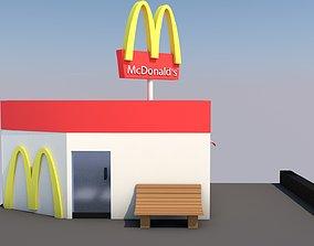 McDonalds Shop 3D model