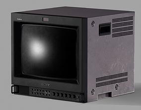 Sony Trinitron TV Set 3D model low-poly