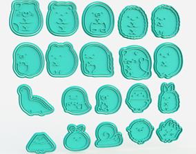 Sumikko Gurashi Kawaii Cute Cookie Cutter 3D print model 2